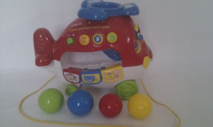 Adorable Baby Vtech My 1st Learn & Sort Helicopter Pull Along Toy
